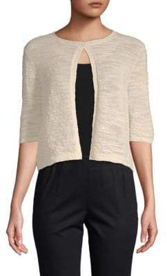 Lafayette 148 New York Textured Elbow-Sleeve Shrug