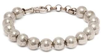 Title Of Work - Beaded Sterling Silver Bracelet - Mens - Silver