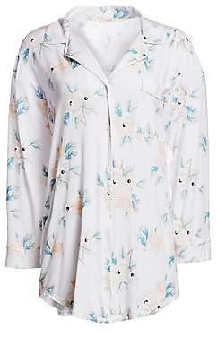 Eberjey Women's Mother's Day Floral Sleep Shirt