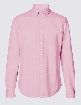 Marks and Spencer Cotton Rich Slim Fit Shirt