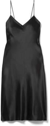 Helmut Lang Embellished Silk-satin Mini Dress - Black