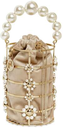 Rosantica Cassady Pearls Top Handle Bag