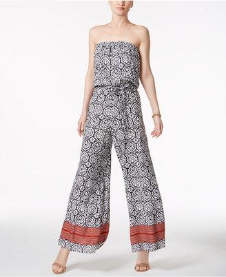 Msk Strapless Wide-Leg Jumpsuit $69 thestylecure.com