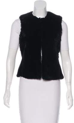 Theory Fur Open-Front Vest