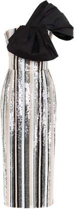 Rasario One Shoulder Bow Dress