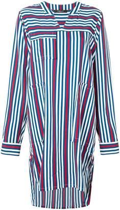 Derek Lam Striped Belted Shirt Dress