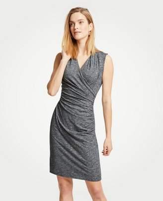 Ann Taylor Petite Faux Wrap Knit Dress