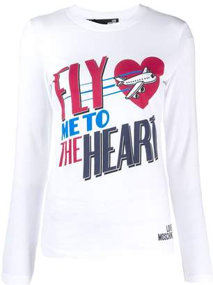 Love Moschino Fly Me To The Heart jersey top