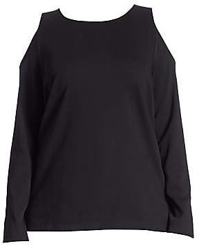 Joan Vass Women's Cold-Shoulder Top