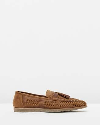 Alberti Woven Leather Moccasins