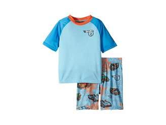 Volcom Hot Wheels(r) Collector Short Sleeve PJ Shorts Set (Toddler/Little Kids)