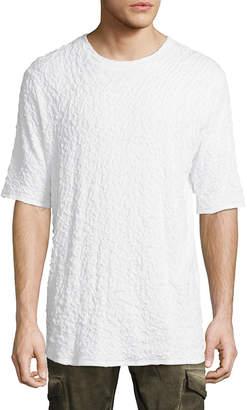 Twenty Solid High-Low Crew T-Shirt