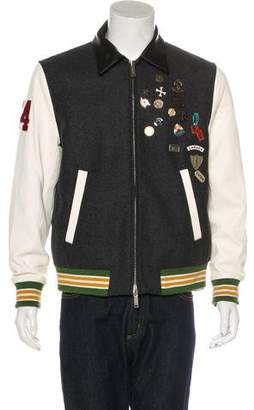 DSQUARED2 2018 Wool Pin-Embellished Varsity Jacket