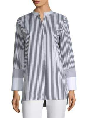 Lafayette 148 New York Marianne Striped Blouse