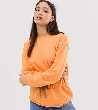 Vero Moda Tall Bright Sweatshirt With Tie Waist