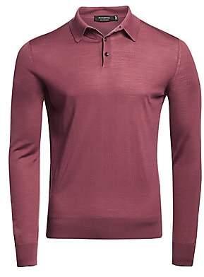Ermenegildo Zegna Men's Long-Sleeve Wool Polo