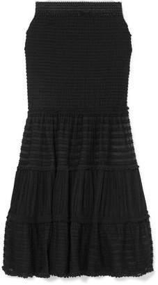 Jonathan Simkhai Shirred Stretch-lace Midi Skirt