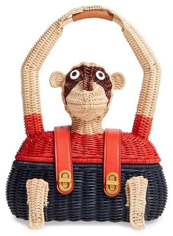 Tory BurchTory Burch Monkey Wicker Tote - Beige