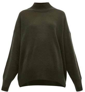 Allude High Neck Cashmere Sweater - Womens - Khaki