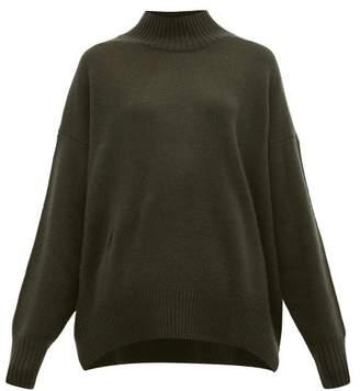 Allude High Neck Cashmere Sweater - Womens - Khaki