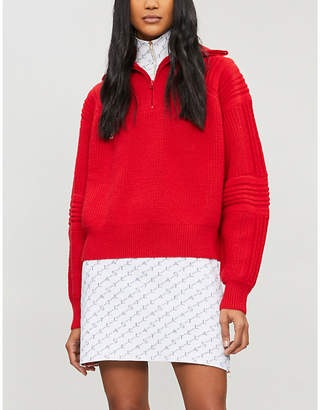 Stella McCartney Logo-print stretch-knit skirt
