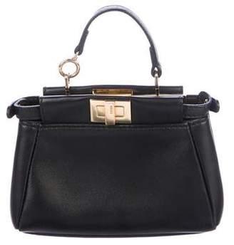 Fendi Leather Micro Peekaboo Satchel