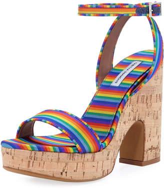 Tabitha Simmons Calla Silk Cork Platform Sandal