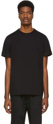 Neil Barrett Black Stripes and Lightning Bolt T-Shirt