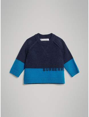 Burberry Childrens Logo Intarsia Cashmere Sweater
