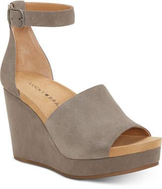 Lucky Brand Women Yemisa Wedge Sandals Women Shoes