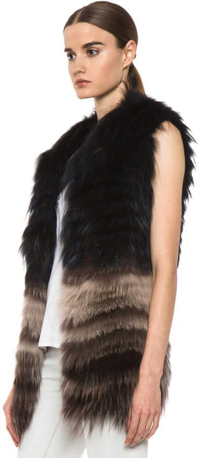 Yigal Azrouel Fur Vest in Night