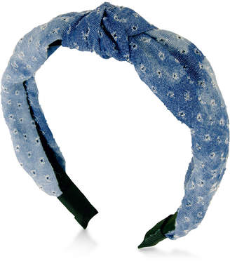GUESS Denim Knotted Headband