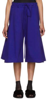 Roberts | Wood Blue Wide-Leg Side Tie Trousers