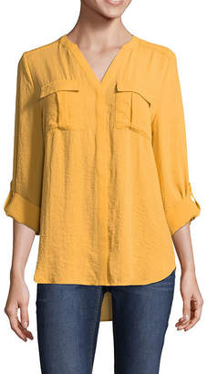 A.N.A Sleeve Pocket Popover Blouse