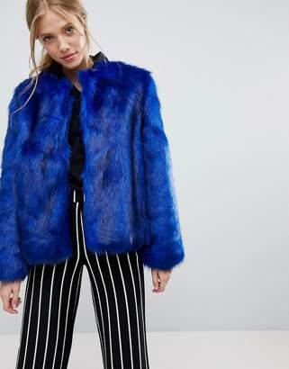 Bershka Faux Fur Jacket