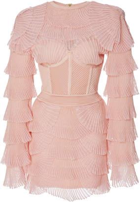 Balmain Ribbed Mini Dress