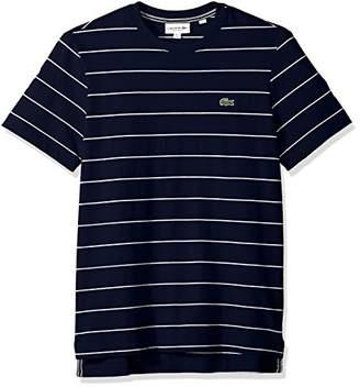 Lacoste Men's Short Sleeve Heritage France Stripe Waffle Reg Fit T-Shirt