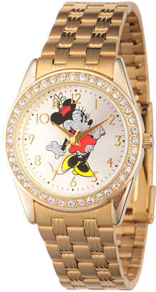 Disney Women's Gold Tone Minnie Mouse Glitz Bracelet Watch W002765