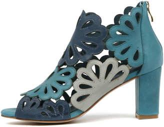 Django & Juliette Nicky Turquoise multi Sandals Womens Shoes Dress Heeled Sandals