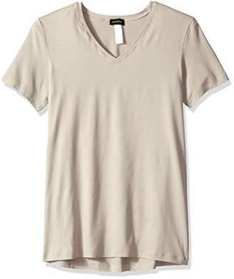 Hanro Men's Cotton Superior Short Sleeve V-Neck Shirt