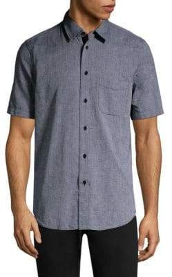 Rag & Bone Cotton & Linen Beach Button-Down Shirt