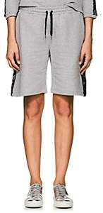 Sapopa Women's Lace-Detailed Cotton French Terry Sweatshorts - Gray