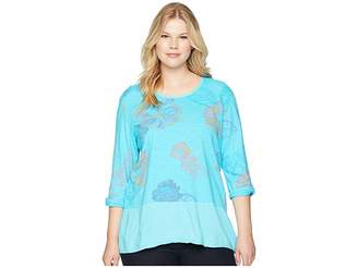 Fresh Produce Extra Fresh by Plus Size Summer Floral Windfall Top