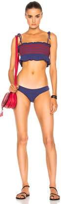 Lisa Marie Fernandez Selena Smocked Bikini $400 thestylecure.com