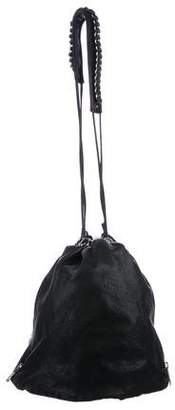 Alexander Wang Leather Drawstring Bucket Bag