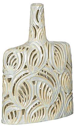 Large Pierced Openwork Ceramic Bottle - Bradburn Home