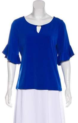 Calvin Klein Ruffle-Accented Short Sleeve Top