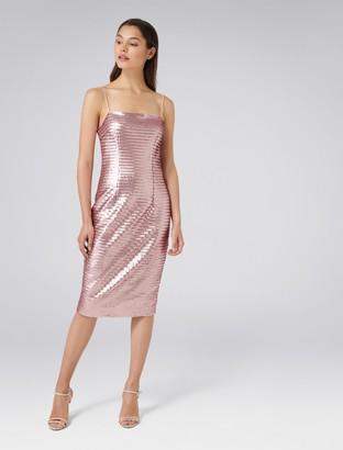 Forever New Chrisley Sequin Sheath Dress - Pink - 4