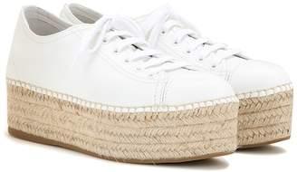Miu Miu Espadrille-style platform leather sneakers
