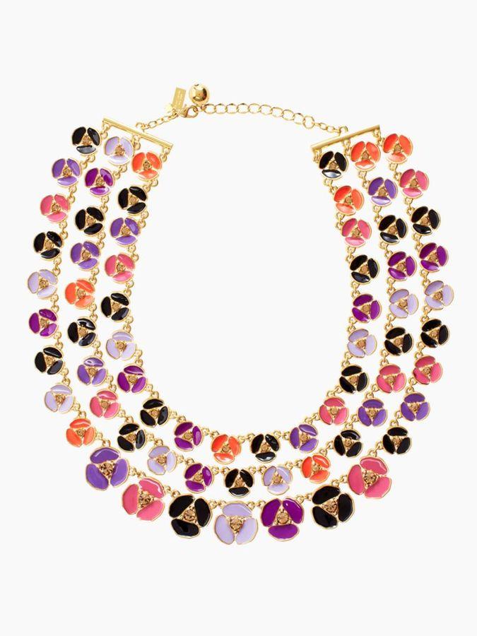 Kate Spade Disco pansy multi strand necklace